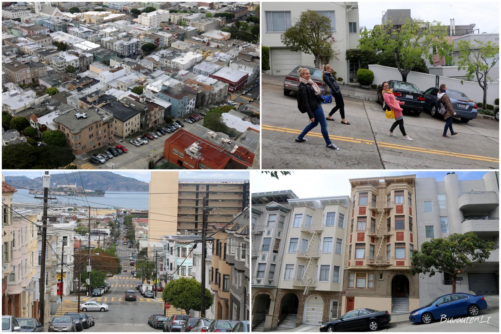 San Franciske – tik į kalną arba į pakalnę