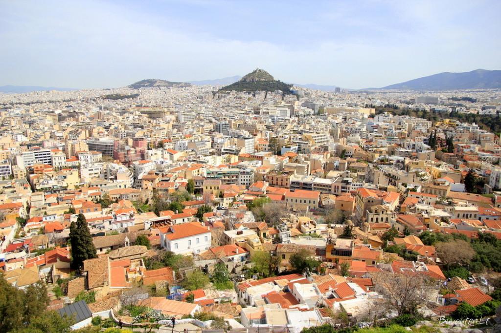 Nuo Akropolio kalno - Atėnai ir Likavito kalnas