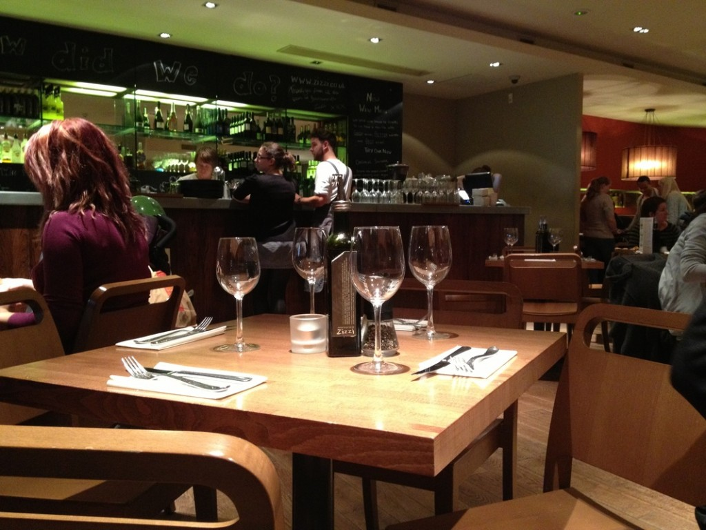Zizzi restoranų tinklą galima rasti visoje Anglijoje