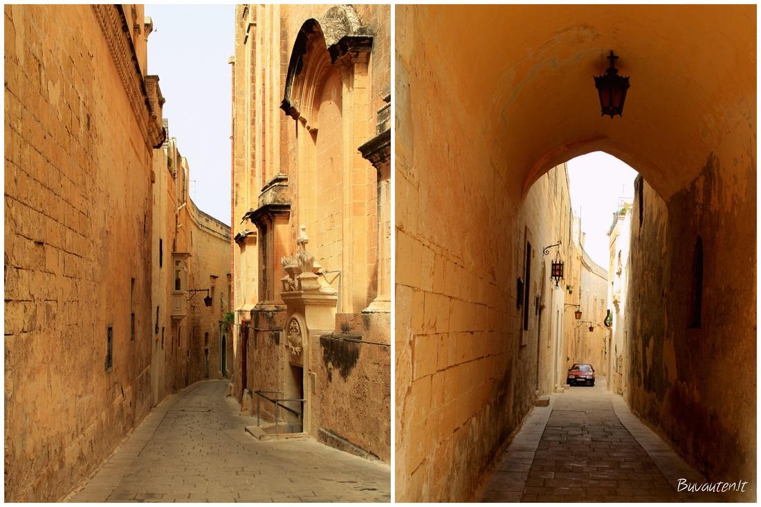 Miestas - tvirtovė, aukšta akmenine tvora apjuosta senoji Maltos sostinė Mdina