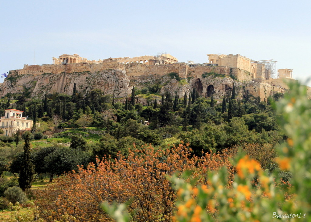 Akropolio vaizdas iš Senovės Agoros