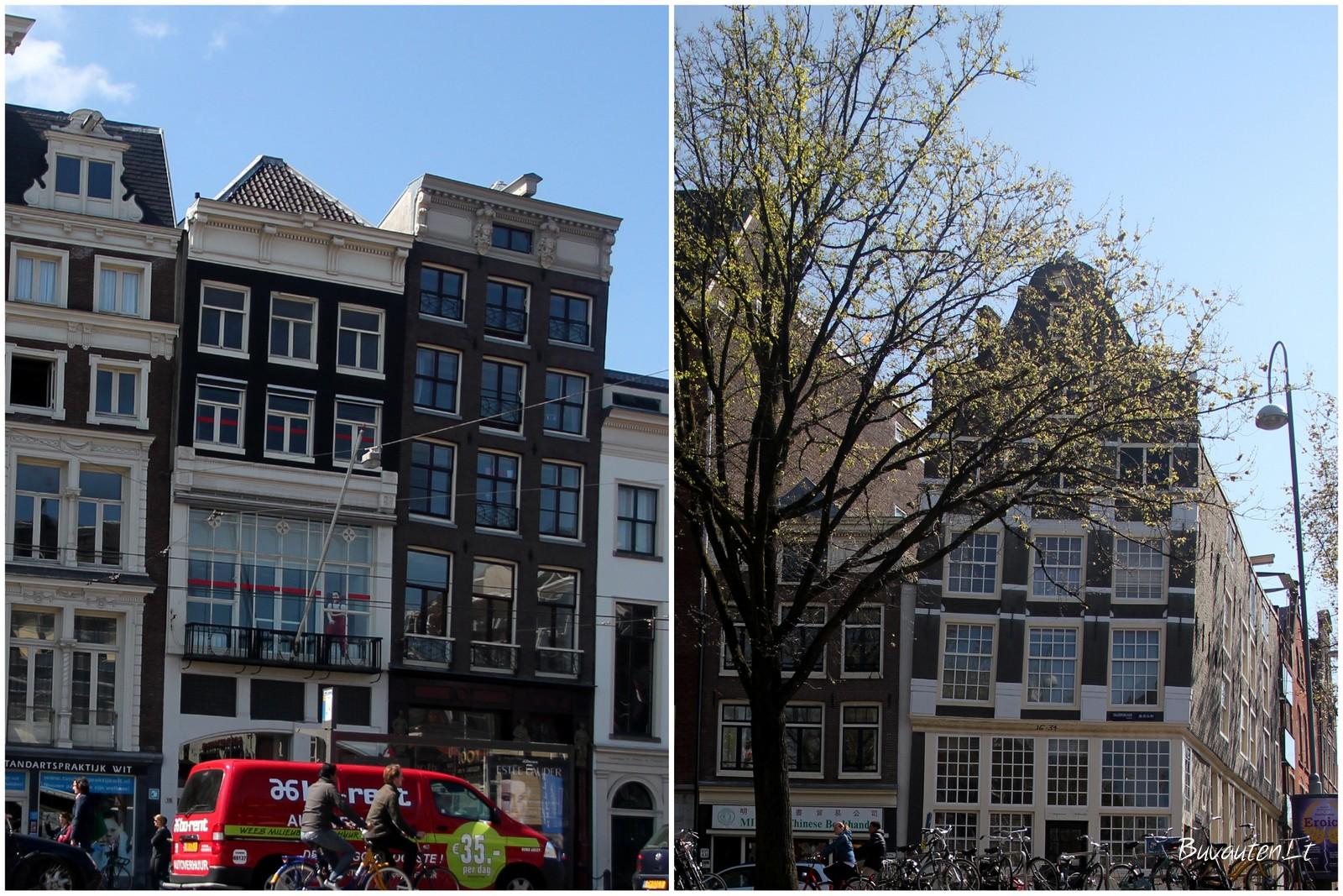 Kreivi Amsterdamo namai - čia tik keli pavyzdžiai