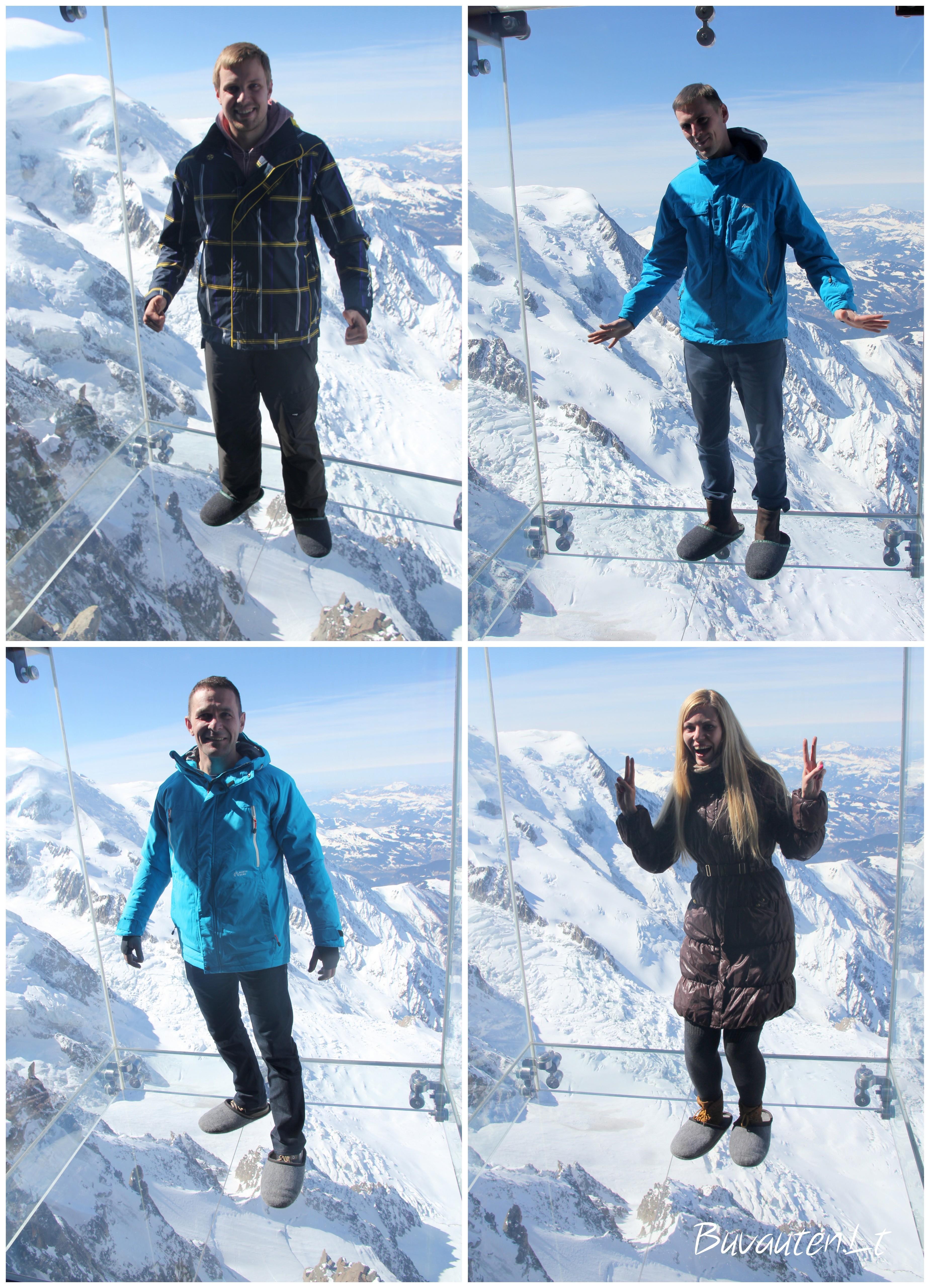 Stiklo dėžėje virš Alpių 3842 m aukštyje