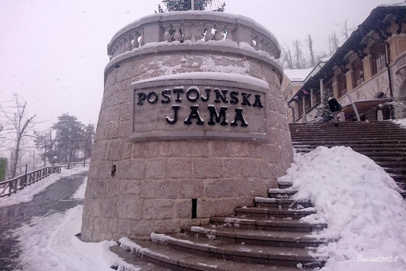 Įėjimas į Postojnos urvą
