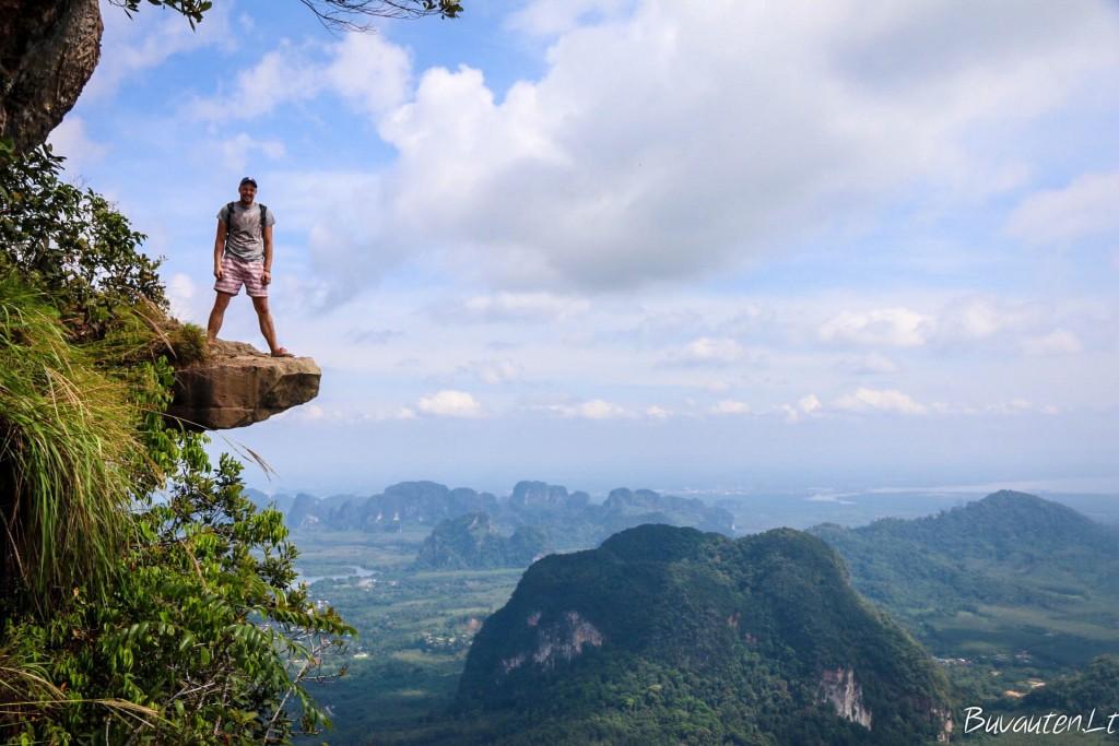 Krabi kraštovaizdis nuo Tab Kak-Hang Nak kalno