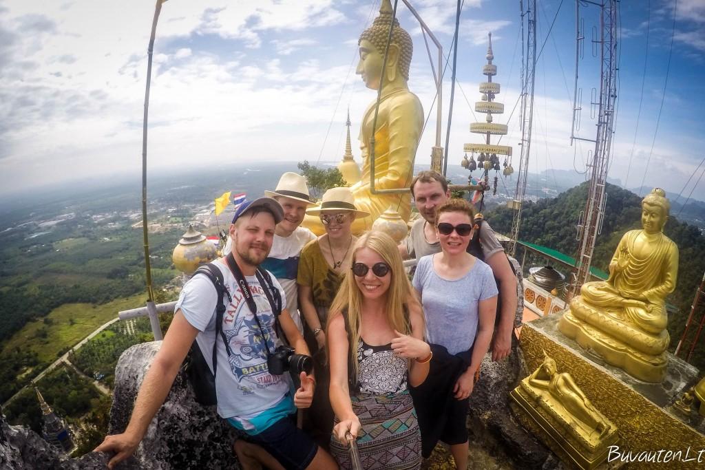 1237 laipteliai į viršų - Tiger Cave Temple