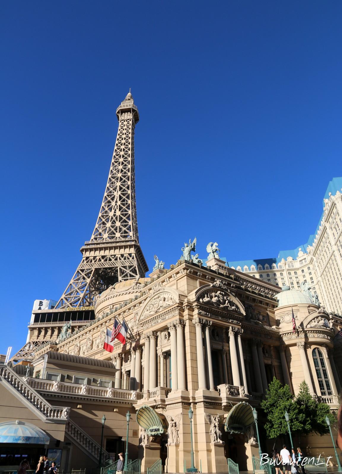 Eifelio bokšto kopija Las Vegase