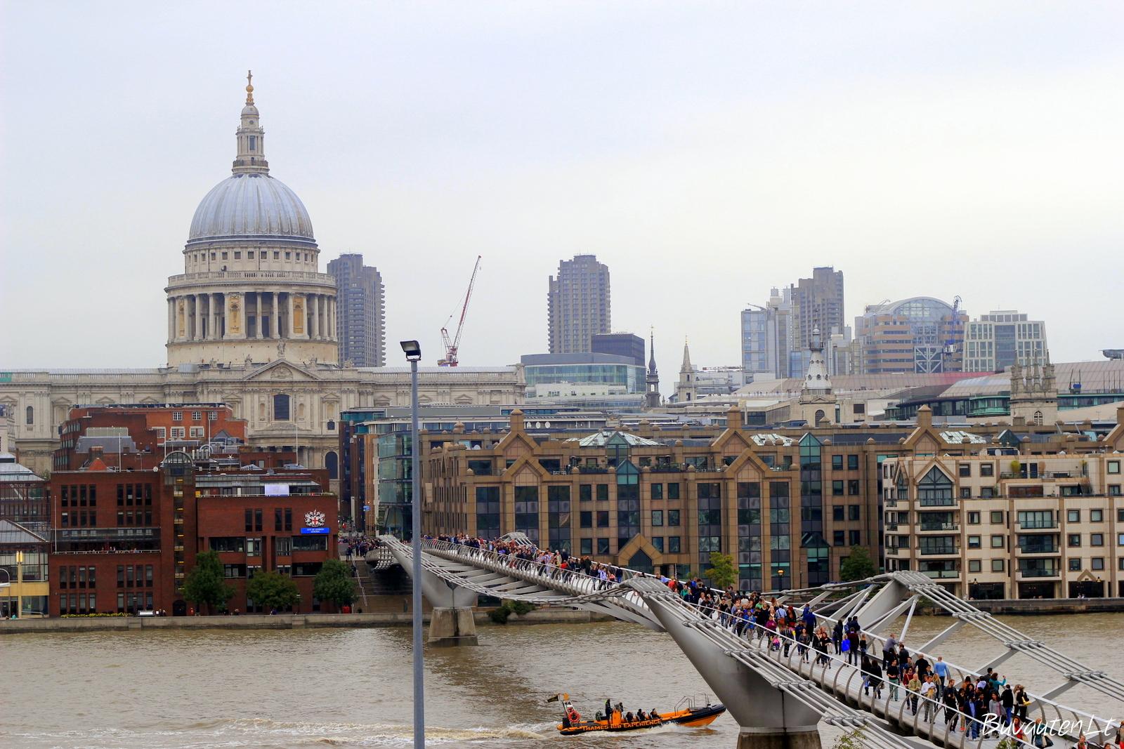 Vaizdas iš Tate Modern balkono