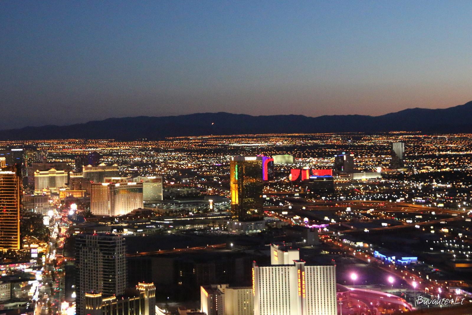 Las Vegaso šviesos nuo Stratosphere Tower