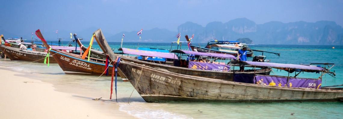 Tailando salų simbolis - ilgauodegės valtys