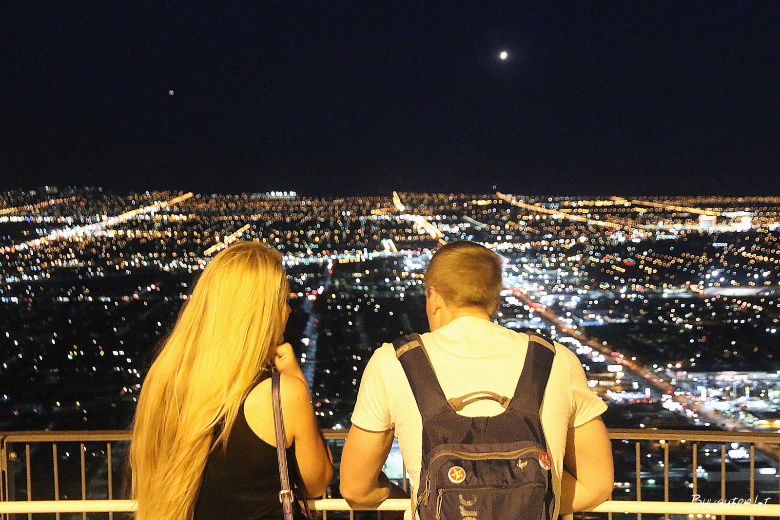 Naktinis Las Vegasas iš viršaus