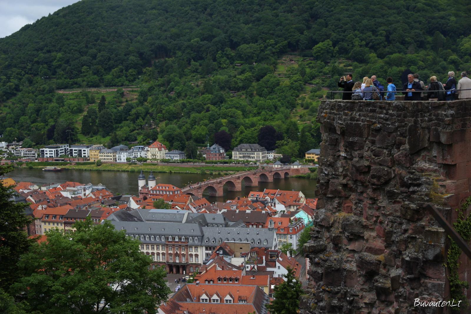 Vaizdas nuo Heidelbergo pilies
