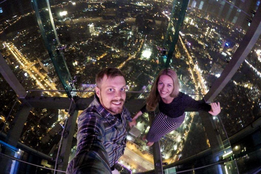Lotte dangoraižio apžvalgos aikštelė - stiklinėmis grindimis
