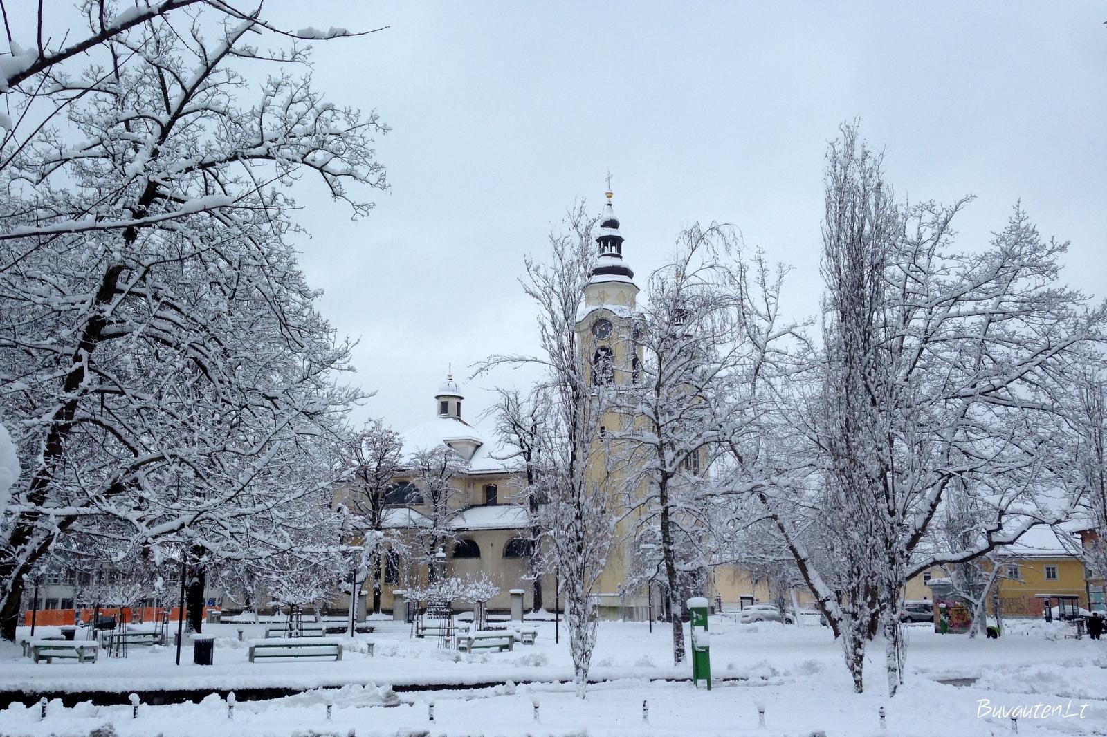 Žiema Liublianoje