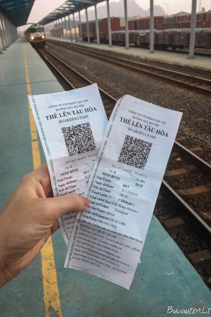 Traukinio bilietai