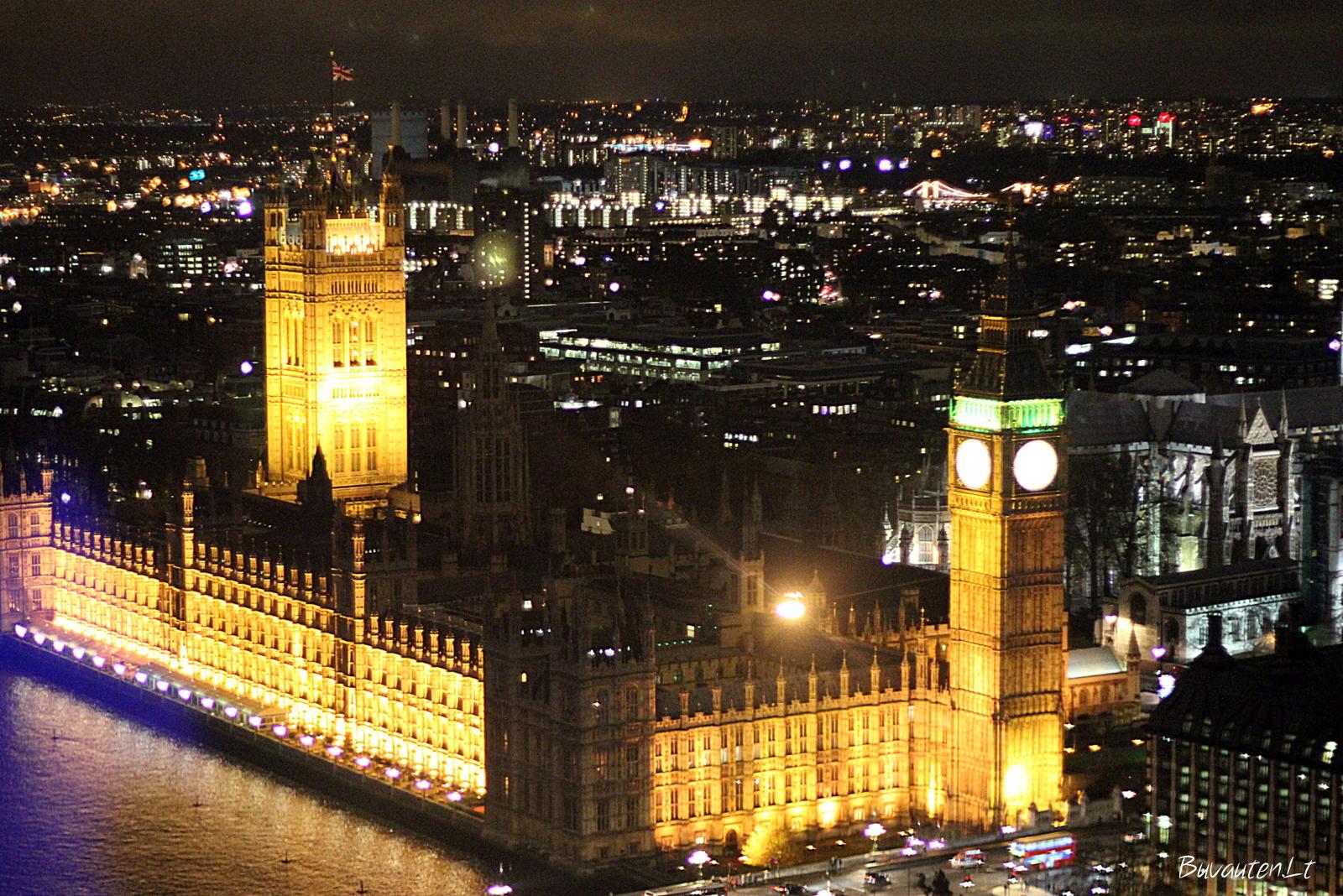 Parlamento rūmai iš Londono akies
