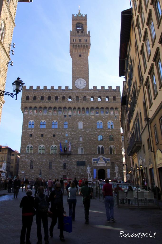 Vecchio rūmai - Florencijos miesto rotušė
