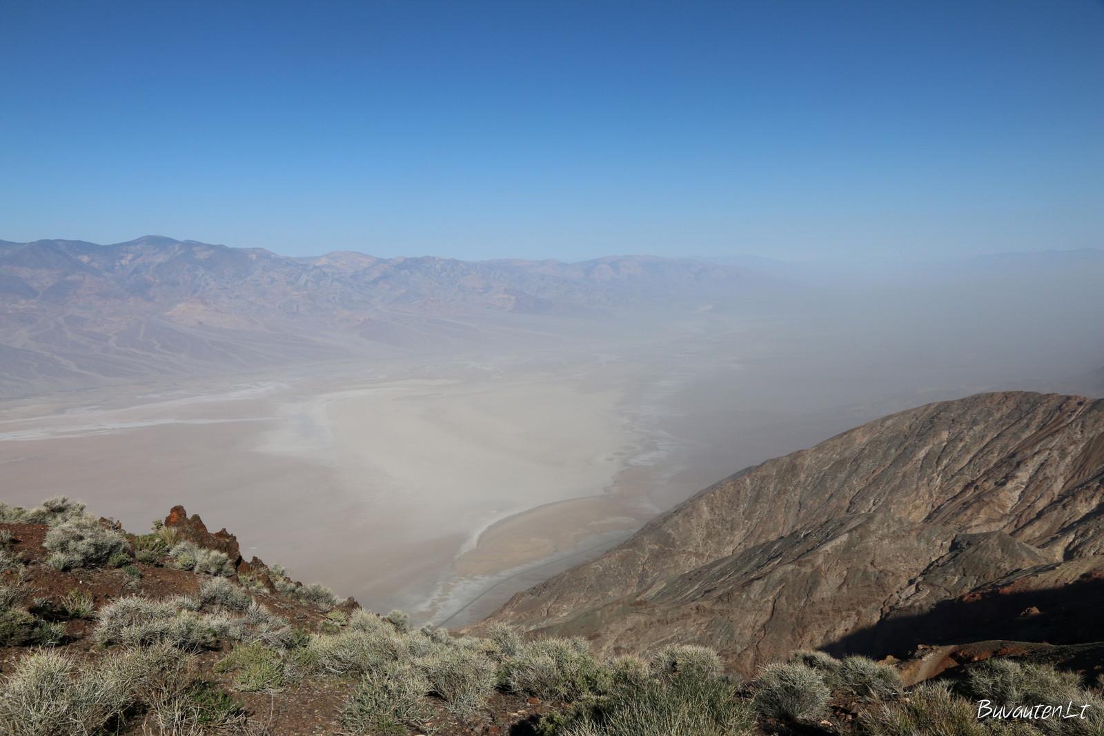 Vaizdas į Badwater Basin iš aukštai