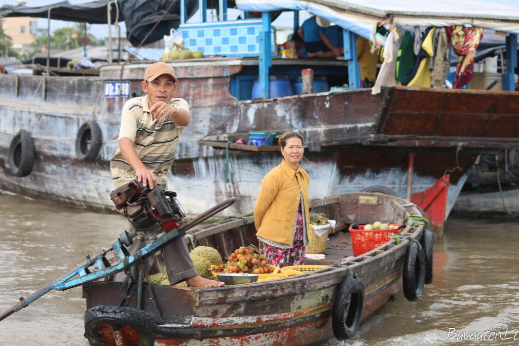 Turgus ant vandens Mekongo deltoje