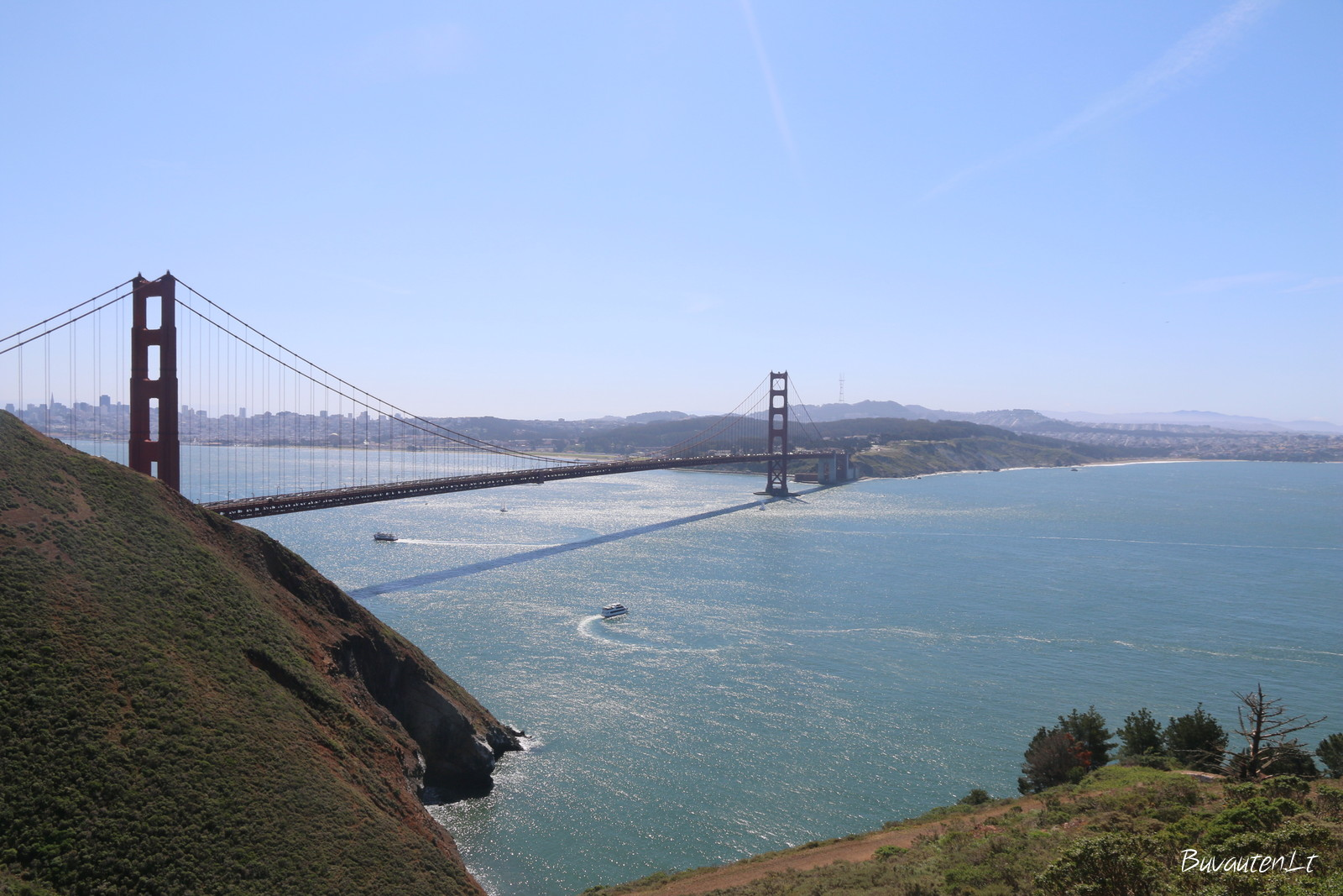Auksinių vartų tiltas, tarp San Francisko įlankos ir Ramiojo vandenyno