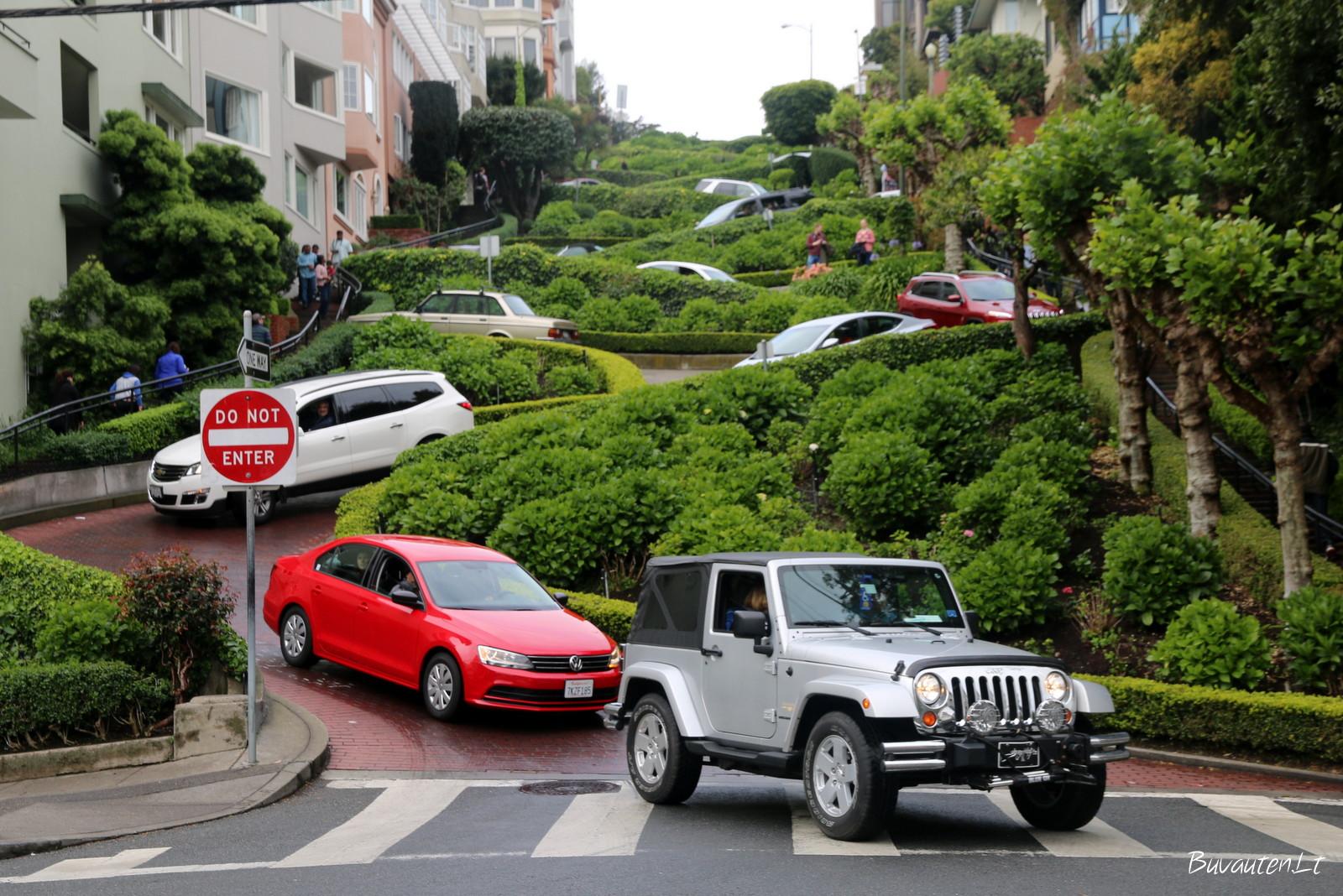 Lombard gatvė – labiausiai vingiuota gatvė pasaulyje