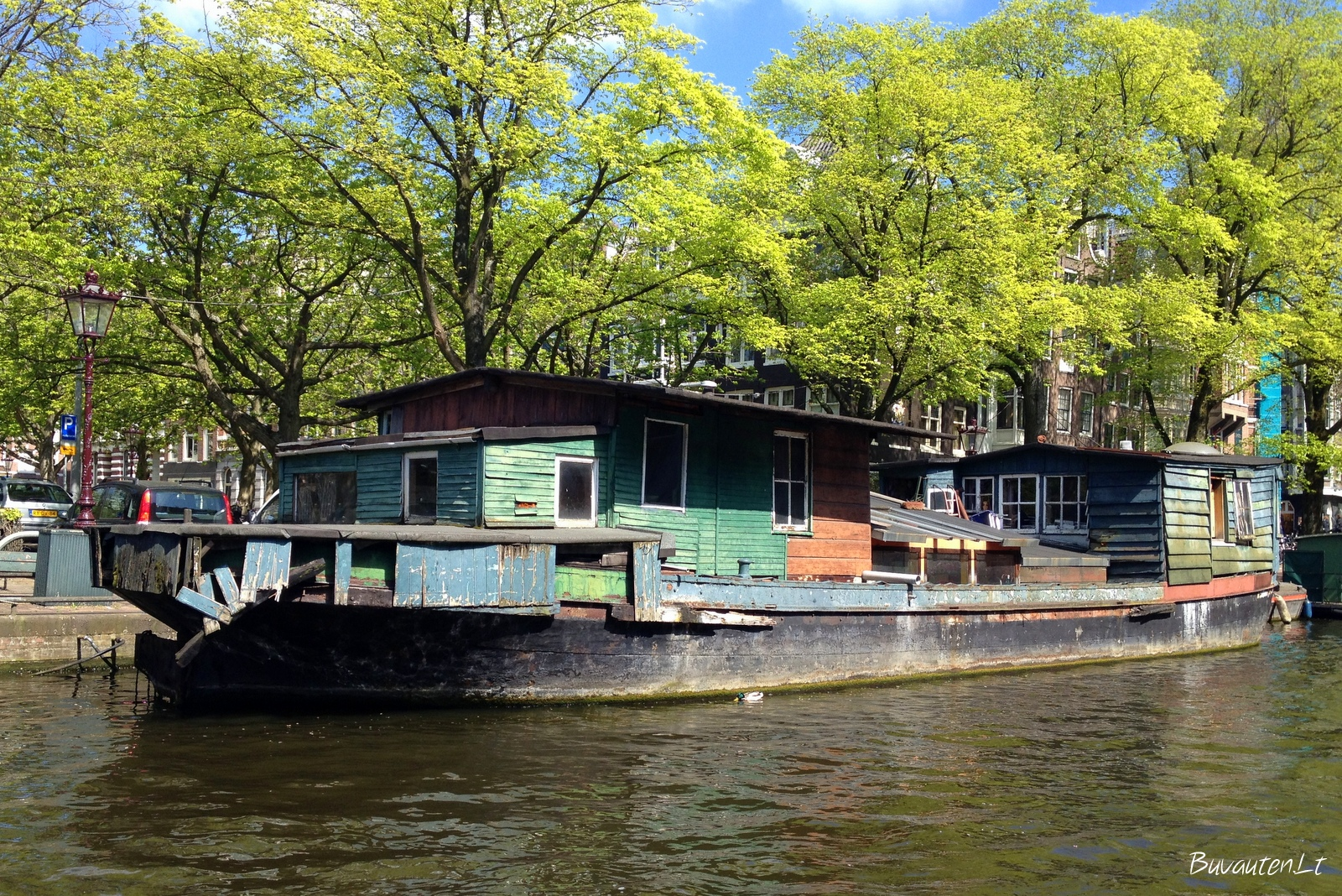 Vienas iš namų ant Amsterdamo kanalų