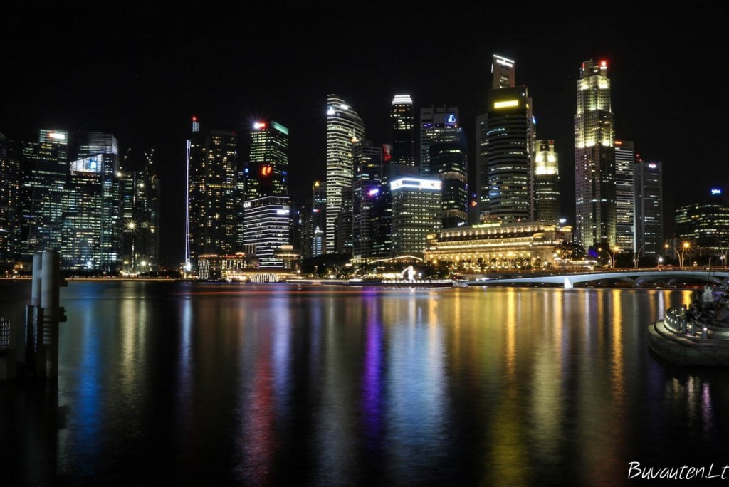 Verslo centro dangoraižių šviesos