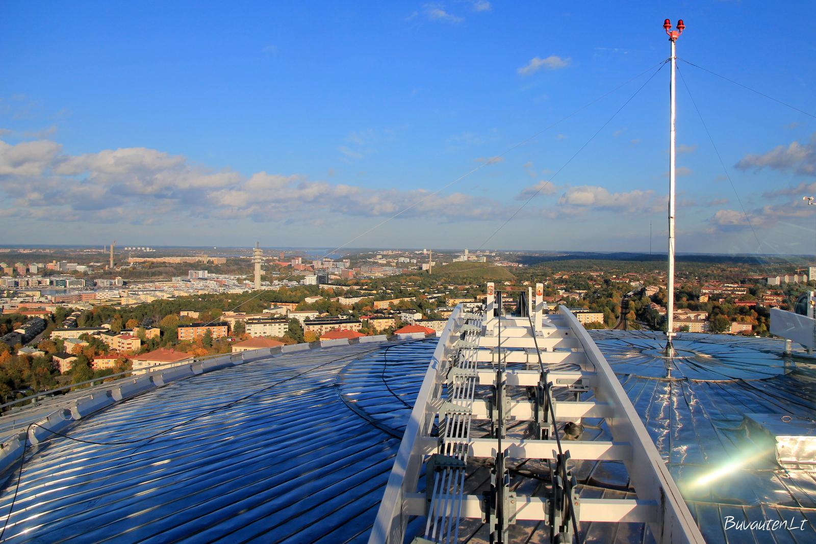 """""""Skyview"""" Stokholme – ant arenos stogo"""
