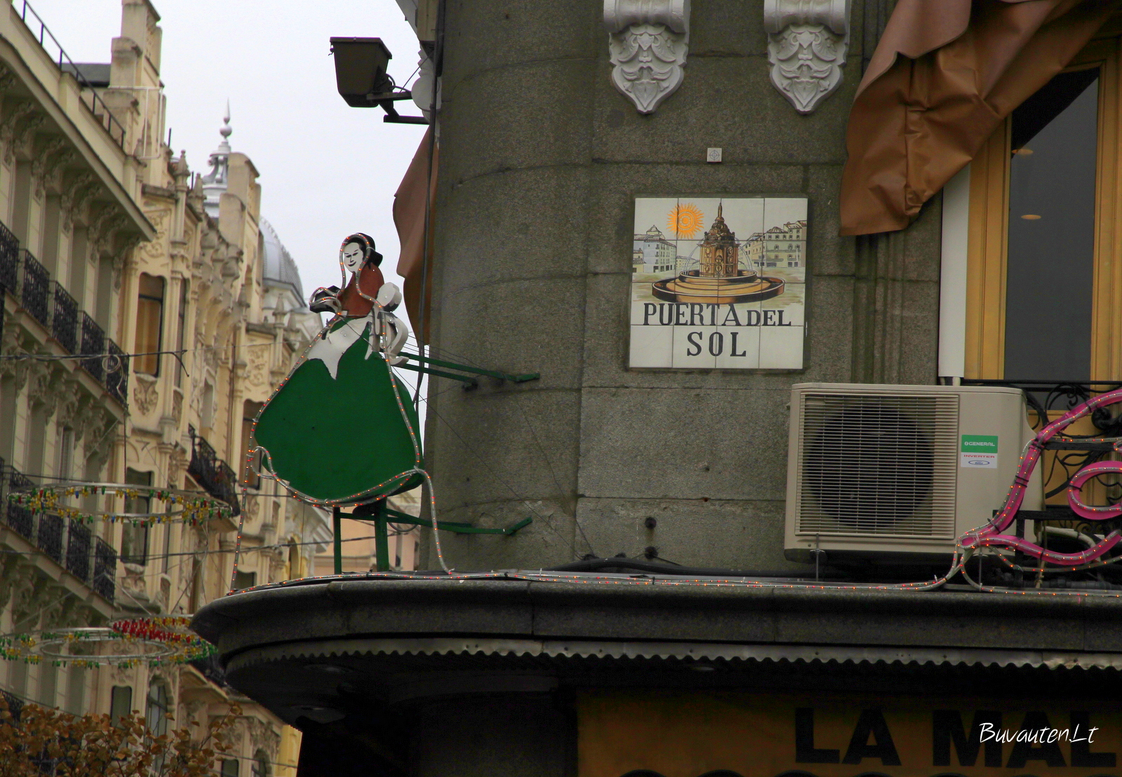 Puerta del Sol aikštės detalė