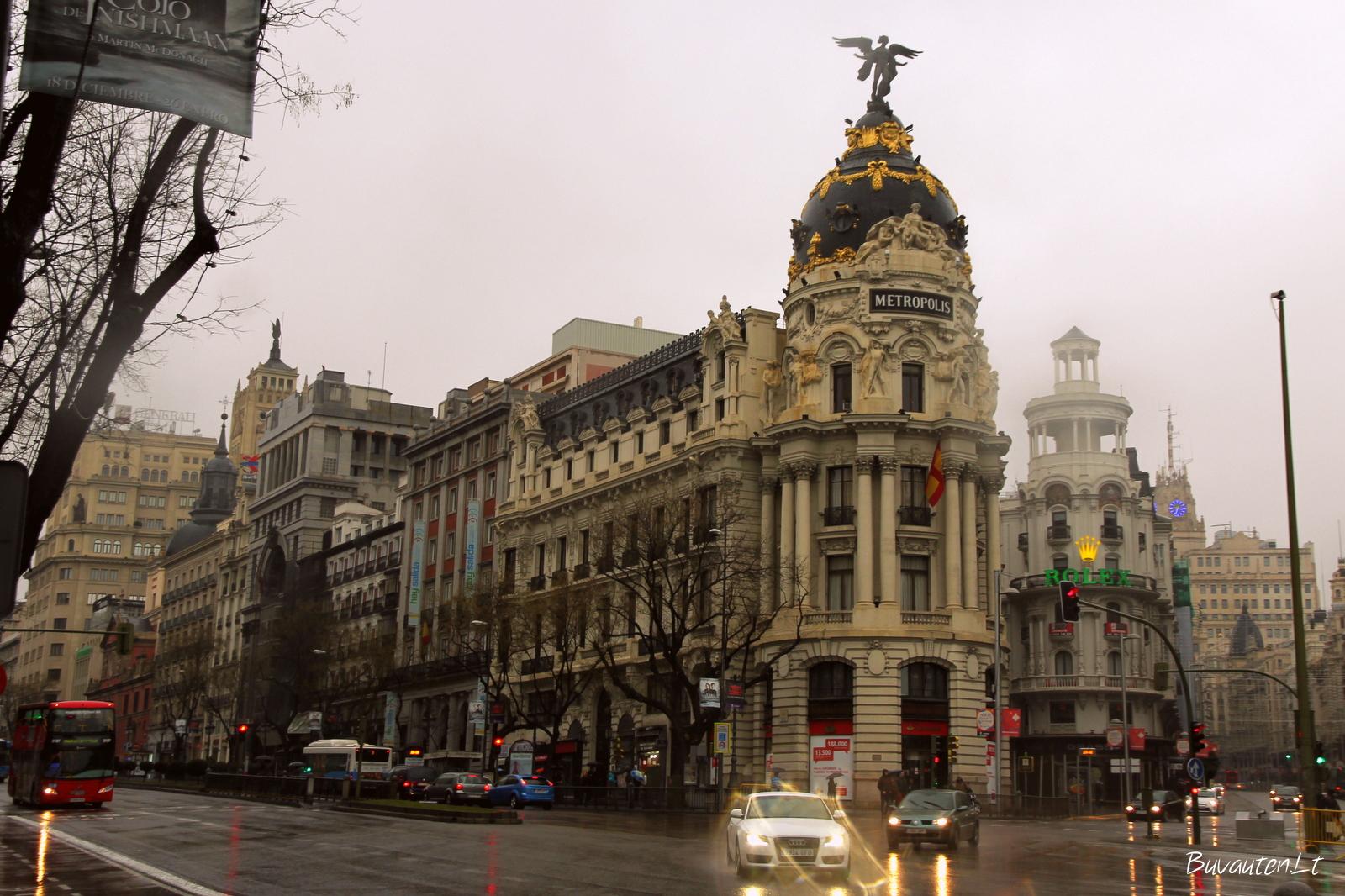 Gran Via - viena pagrindinių Madrido gatvių