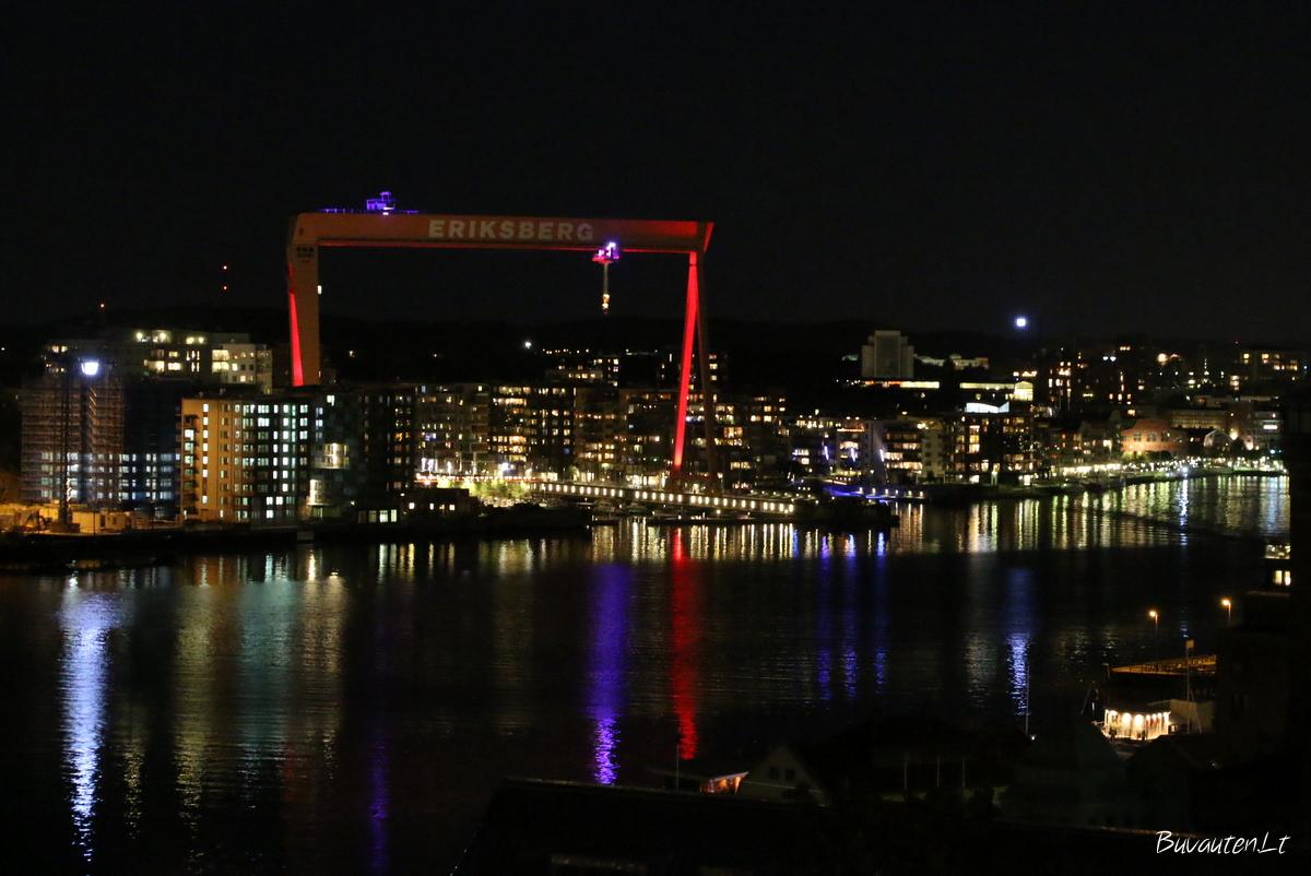 Miesto ir uosto šviesos nuo Alvsborg tilto
