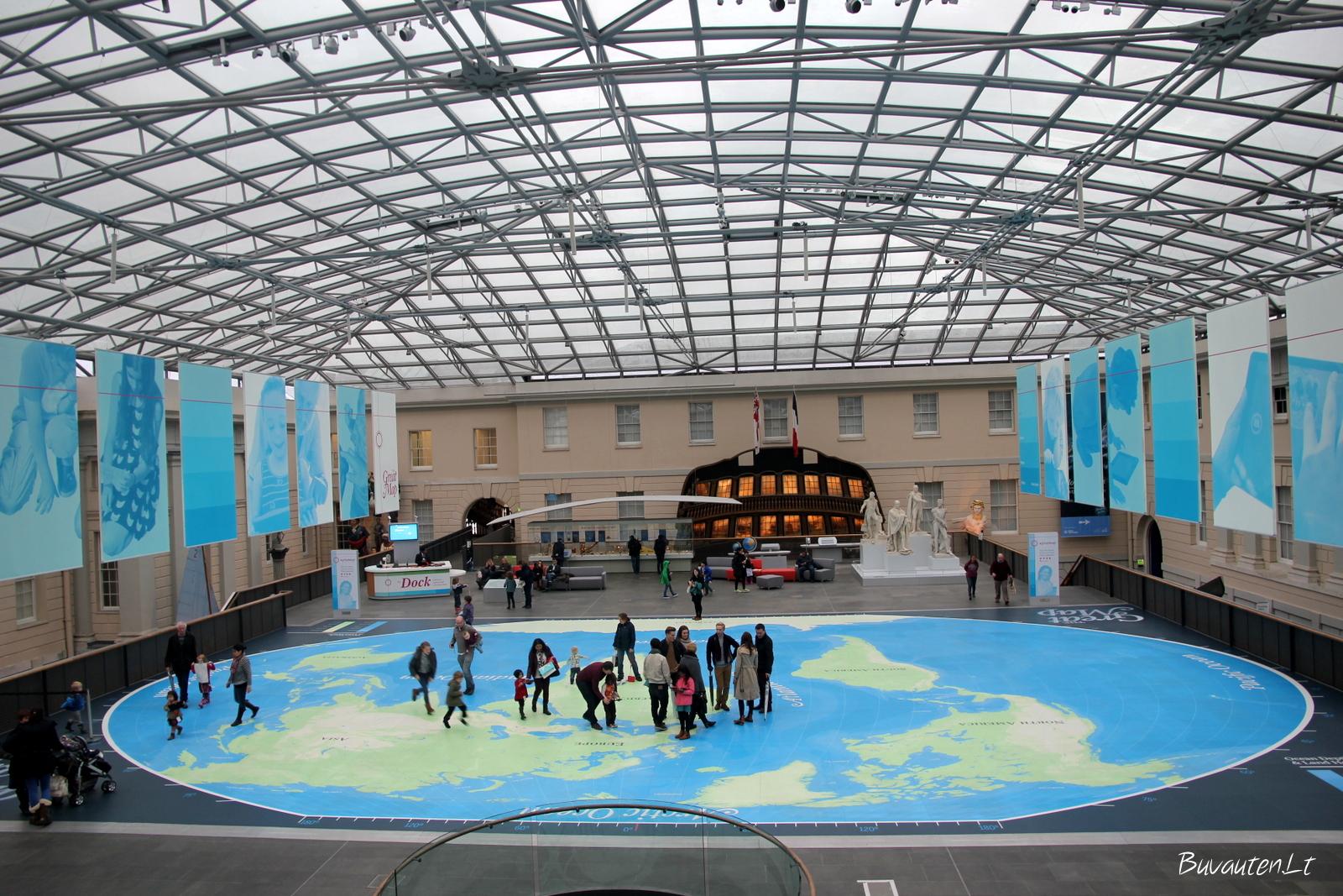 Pasaulio žemėlapis Jūreivystės muziejuje