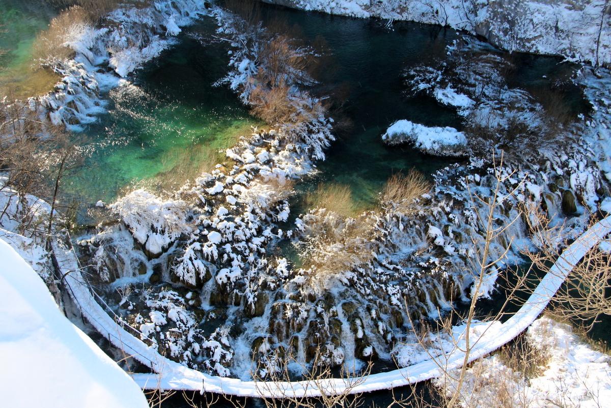 Plitvicos ežerai žiemą