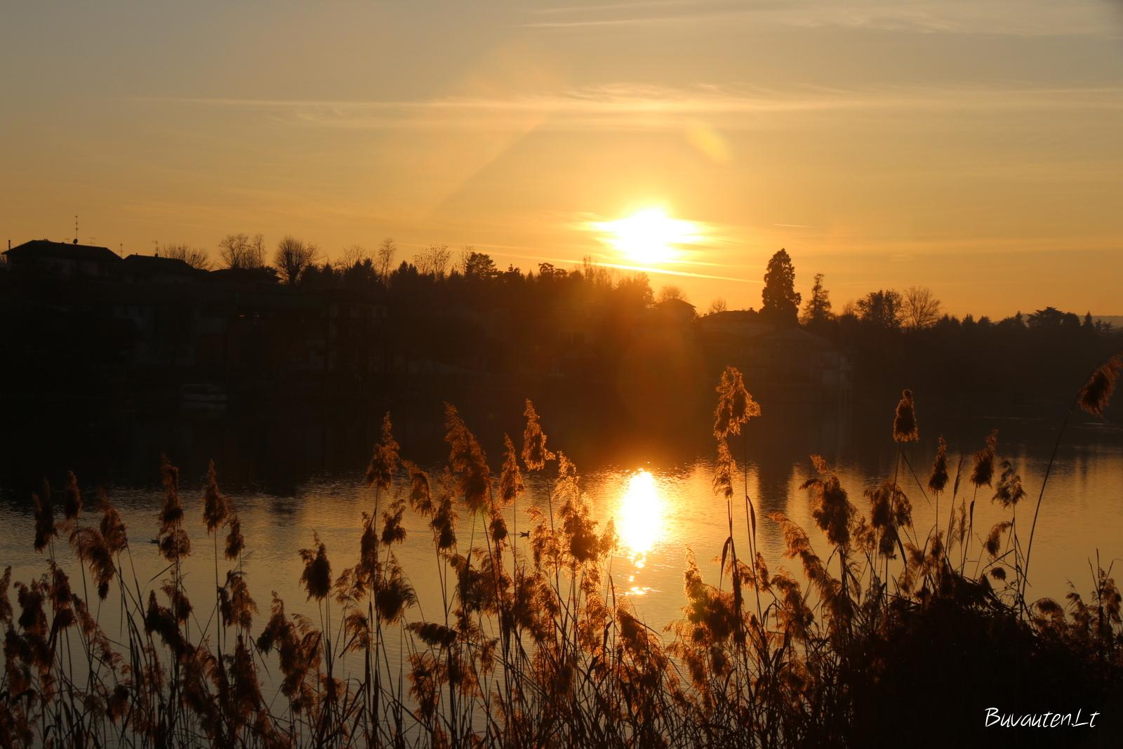 Saulėlydis prie Tičino upės