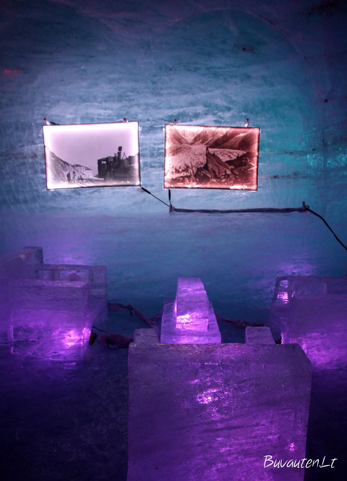Svetainė ledo urve