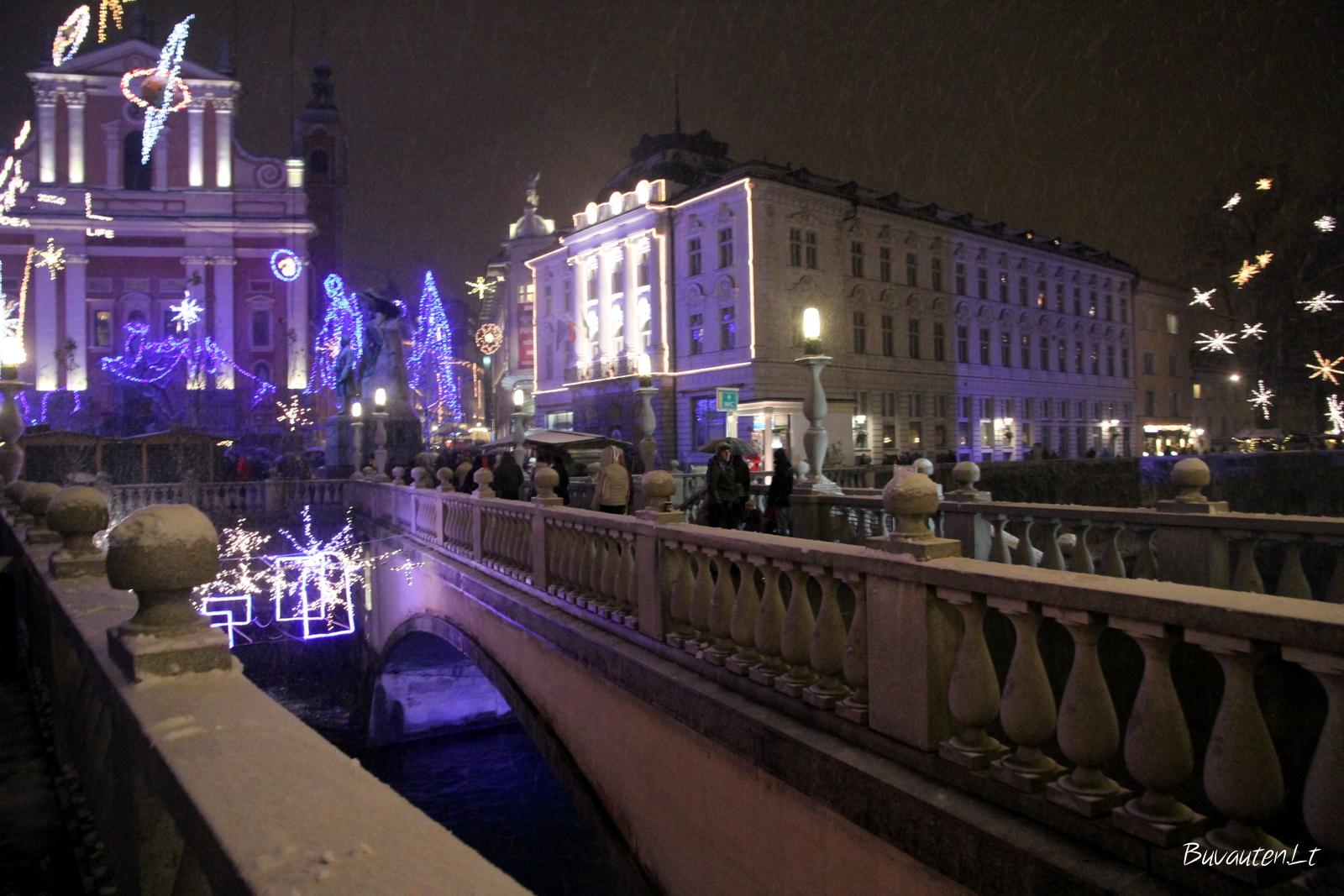 """Liublianos išskirtinis ženklas – tiltas """"trys viename"""""""