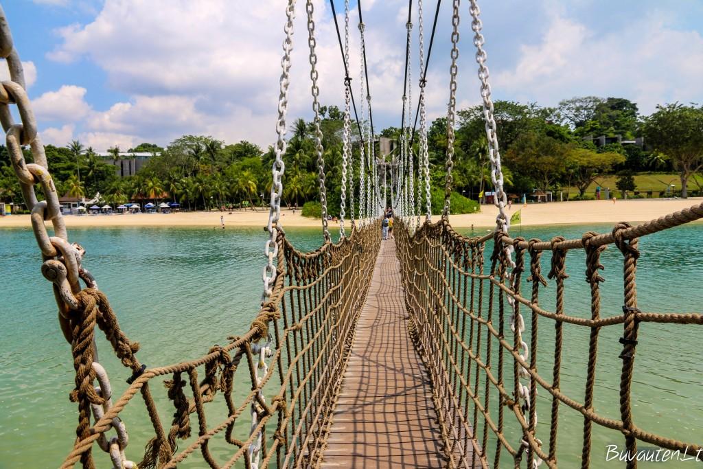 Sentosą su Palawan sala jungia šis tiltas