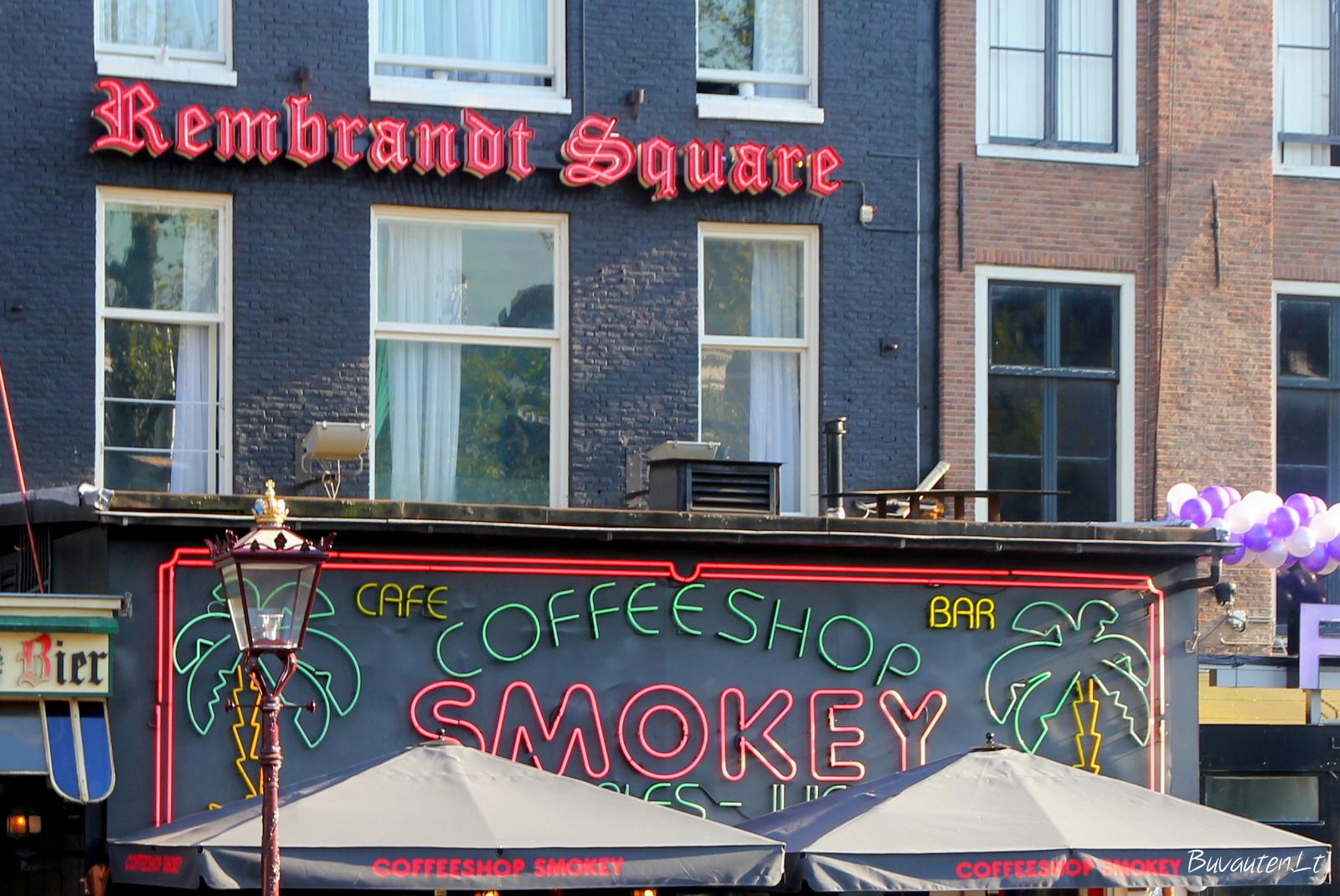 Coffeeshop'as Rembranto aikštėje