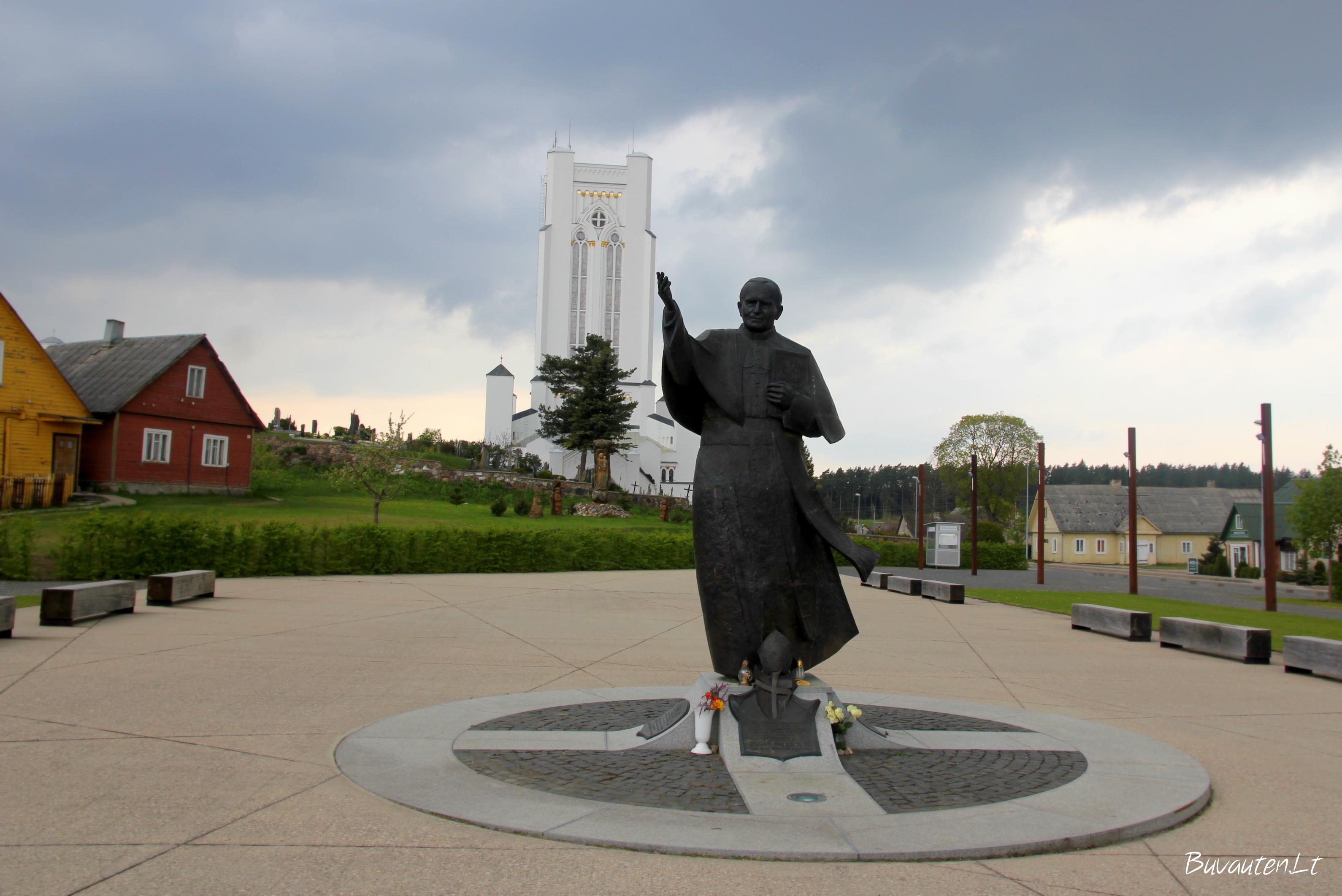 Jono Pauliaus II skulptūra Šiluvoje