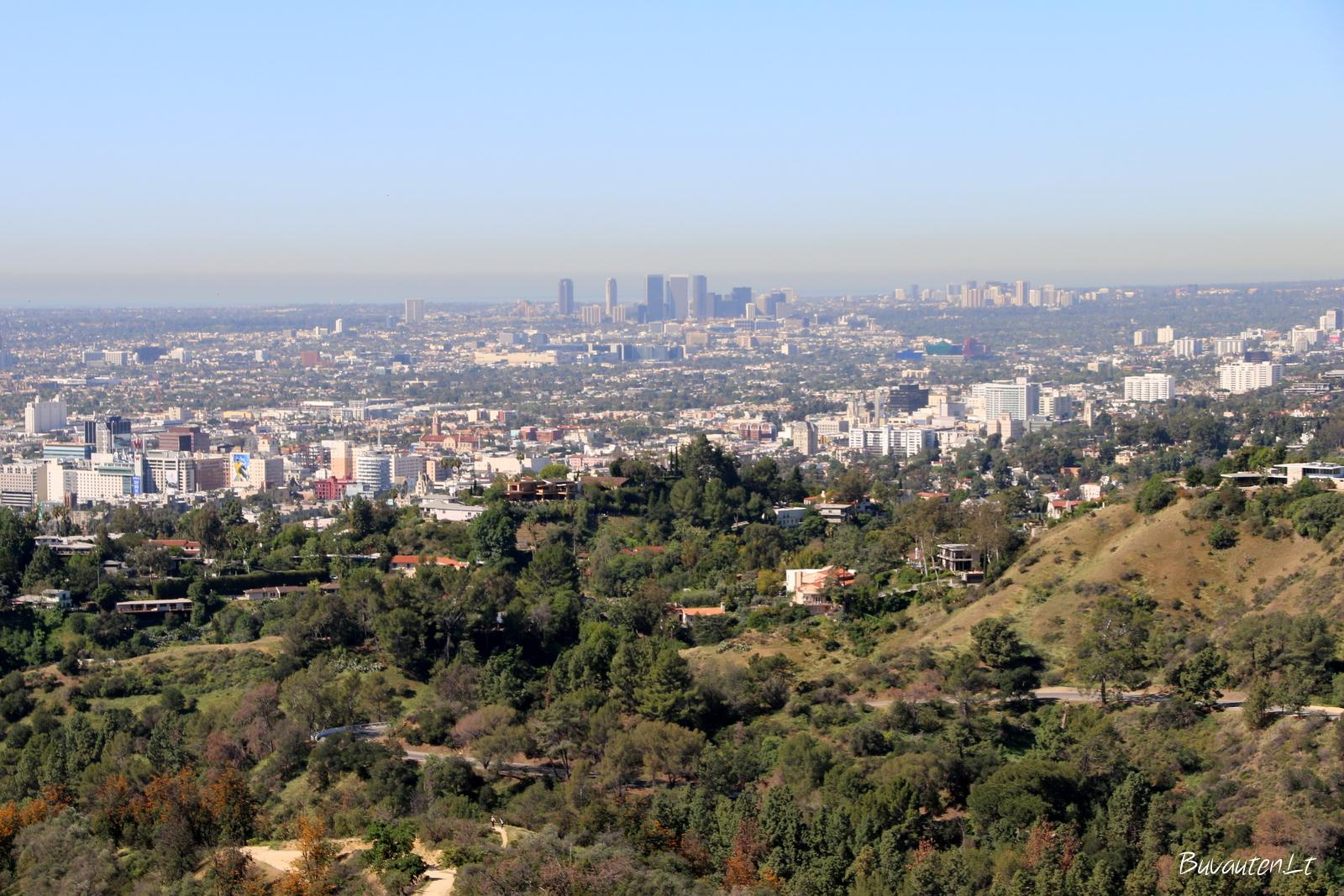 Los Andželo panorama nuo Griffith parko kalvos