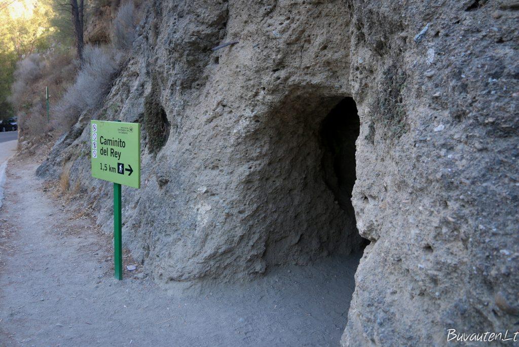 Caminito del Rey įėjimas