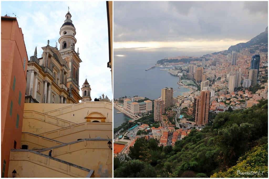 Mentono bažnyčia ir Monako bokštai – visai šalia