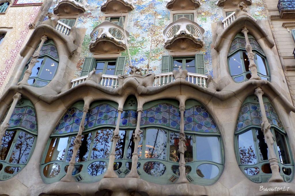 """Vienas žymiausių namų Barselonoje - """"Kaulų namas"""""""