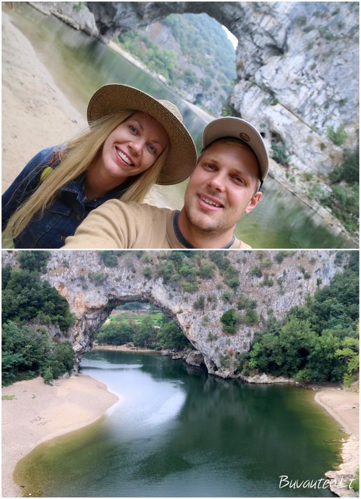 Ardeche upės tarpeklis Prancūzijoje