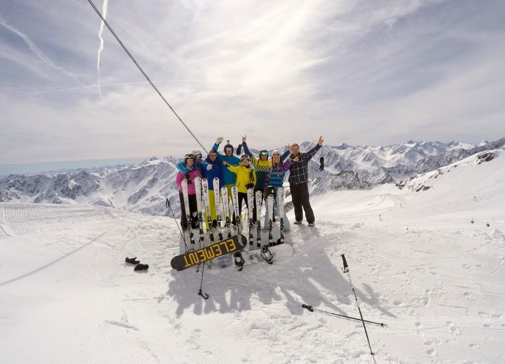 Velykos kalnuose - Solden, Austrija