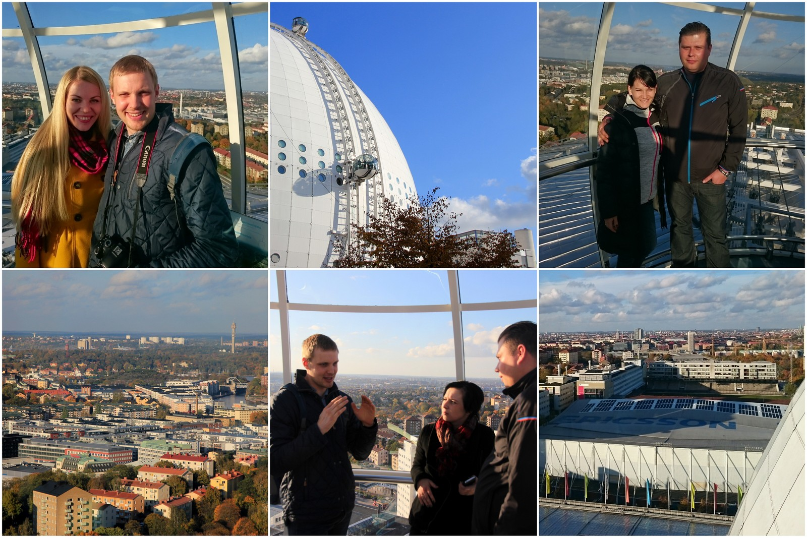 Pakilom Stokholmo iš viršaus apžiūrėti