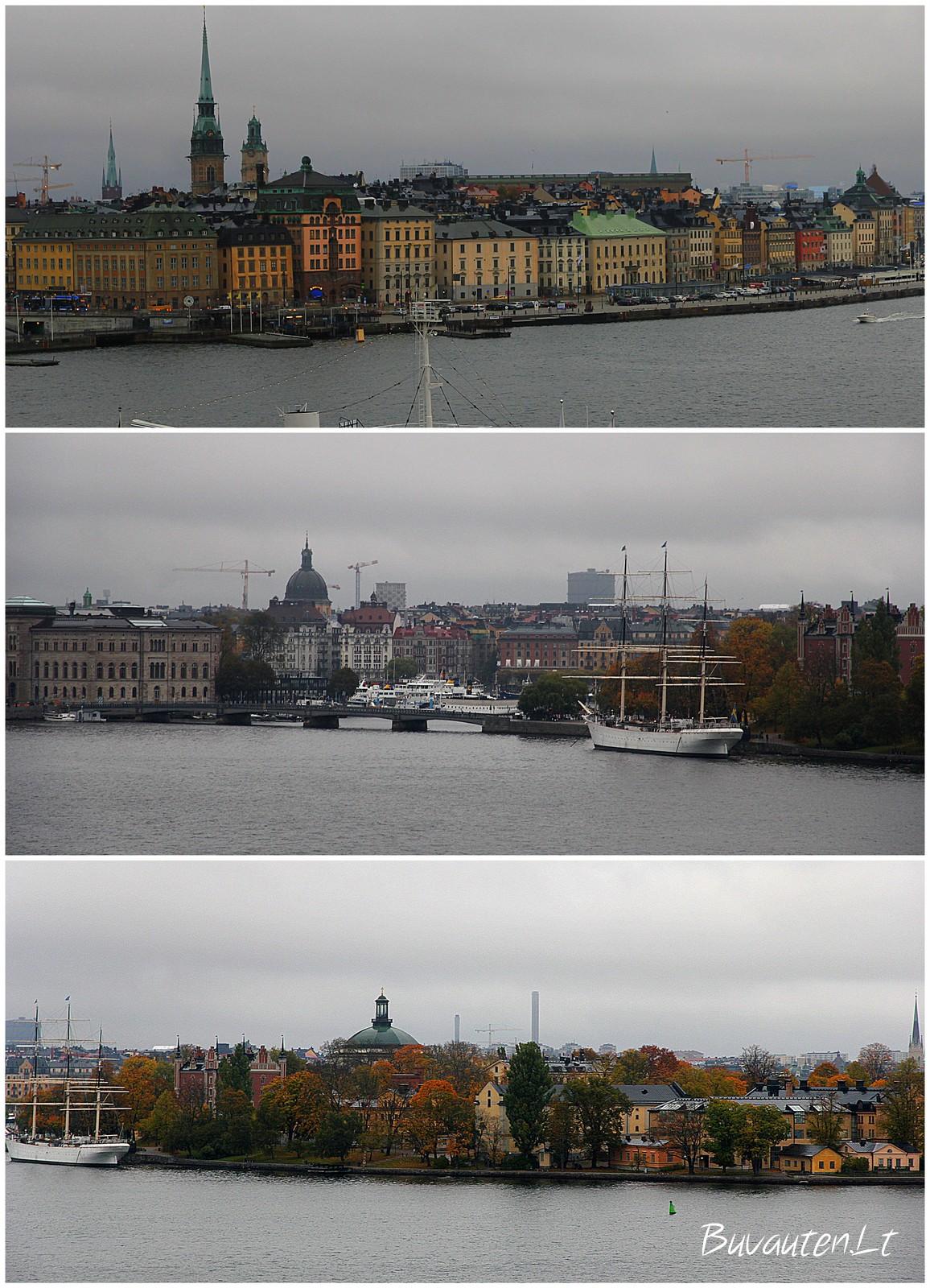 Stokholmo panoramos rudenišką dieną