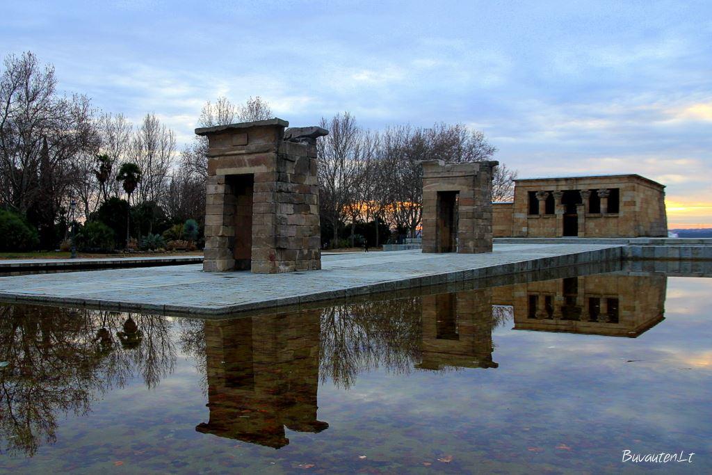 Egiptietiška Debod šventykla Madride