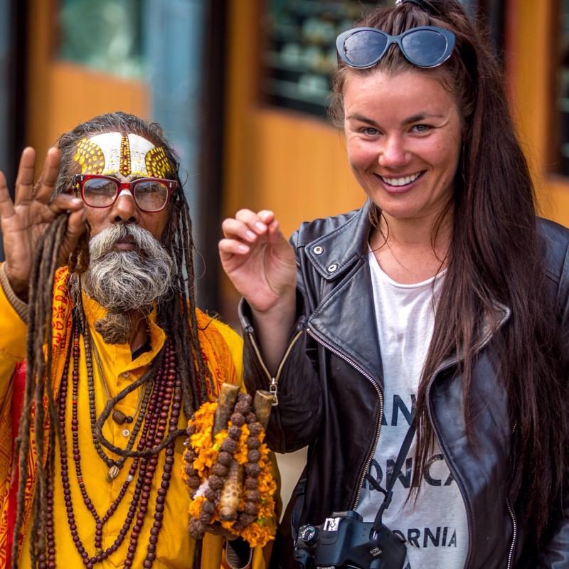 Monika su Sadhu – šventu induizmo žmogumi