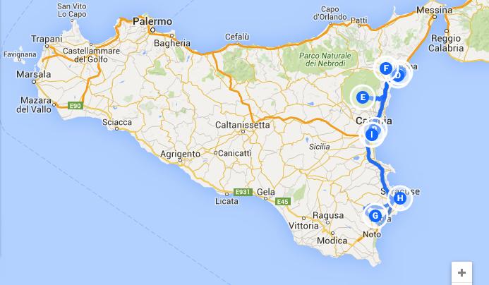 Maršrutas Sicilijoje